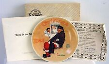"""Santa In The Subway""~Knowles Ltd Ed~Norman Rockwell Collector Plate 1983~Euc"
