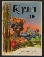 Etichetta/Label-rum/RHUM JAMAIQUE/RON-circa 1950 # 1396