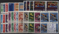 Svizzera - 1969 - Annata completa di posta Ordinaria in quartine - usate