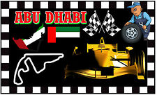 ABU DHABI - MOTOR RACING - FUN NOVELTY SOUVENIR  FRIDGE MAGNET - NEW - GIFT