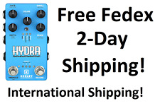 New Keeley Hydra Stereo Reverb & Tremolo Guitar Effects Pedal