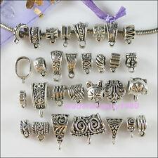 30pc mélangé parachute tibetan silver Connecteur charms européen caution perle fit bracelet