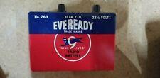 Eveready NO 763 Battery 22 1/2 VOLT BRICK Battery NEDA 710 St Louis Missouri