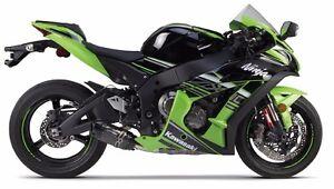 2pcs Diabolos M8 CNC Aluminum pour Kawasaki ZX10R ZX-10R 2014 2015 2016 2017 2018 Vert