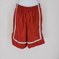 Super Rare Vintage Nike Basketball Dazzle Shorts Silky Shiny Red White Sz Large