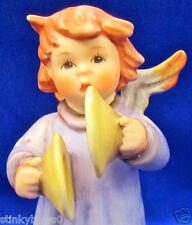 """GOEBEL M I HUMMEL ANGEL FIGURINE W/BOX, """"CYMBALS OF JOY"""", HUM 2096/U, 3.8"""", $135"""