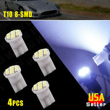 4x Cool White T10 8-SMD LED Car Light Wedge Bulbs Super Bright 194 2825 906 168