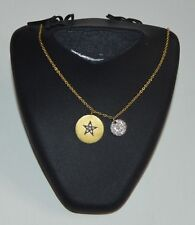 14K Yellow and white Gold Chain Necklace  and 0.30 diamonds  H SI1