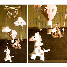 Baby Mobile with Hot Air Balloon Giraffe & Dragon Nursery Decor