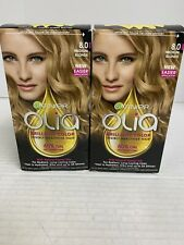 Lot of 2 - Garnier Olia Permanent Hair Color - 8.0 Medium Blonde