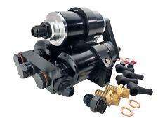 Universal HI FLOW Fuel Pumps 600LPH External Inline w/ Manifold Bracket & Filter