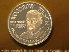 USA Woodrow Wilson Nobel Peace Price 1919 Official 1oz Silver Proof Medal
