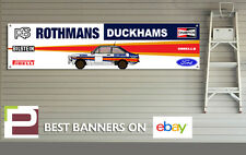 Ford RS Escort Mk 2 Garage XL Banner for Workshop, Retro, Rally Team Rothmans