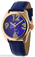Android Womens AD528ARBU Concept T40 Skeleton Automatic Leather Strap Watch