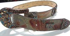 B.B. Simon Swarovski Crystal Horse Shoe Large Belt #8041 C 32 Georgous Belt