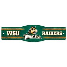 "WRIGHT STATE RAIDERS 5""X17"" PLASTIC ZONE STREET SIGN WINCRAFT BRAND NEW"