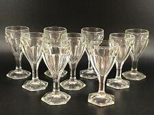 Vintage Glass Sherry Wine Cordial Glasses Set Of 9 Wedding Anniversary