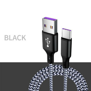 5A FAST Charging Type C Cable USB Data Charger For Samsung S10 Huawei Xiaomi
