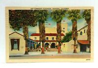 Pasadena California Community Playhouse Linen Vintage Postcard