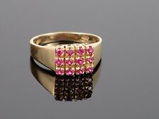 Vintage c 1970 Spinel 14K Yellow Gold Ring, 3.2g, size 5 3/4