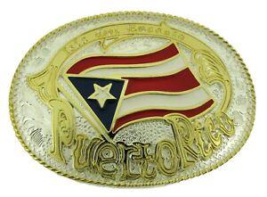 Puerto Rico Bandera puertorriquena Puertorriqueno Belt Buckle Gold Silver New