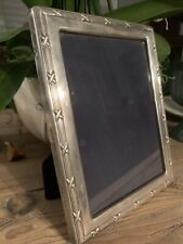 """Sterling 5"""" x 7"""" Picture Frame """"Ribbon & Reed"""" style"""