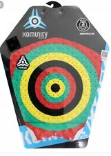 New Komunity Project 3 Piece Surfboard Tailpad Rasta