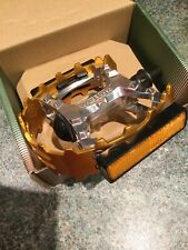 "Old School Wellgo BMX Beartrap Pedals Gold - 1/2"" for 1 piece cranks New For GT"