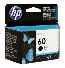 HP 60 Black Ink Cartridge CC640WN Genuine New