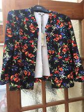 BNWT Stunning size 14 PAPAYA3/4 sleeve, edge to edge,floral jacket