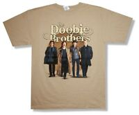 Doobie Brothers World Gone Crazy Tour 2011 Tan T Shirt New Official