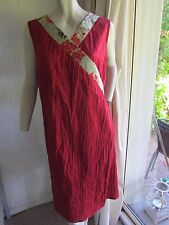 Laika for Dogstar designer red wrap dress, AUS 14, suit 14-16 layering dress too