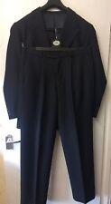 "Men's full suit Vartex 40"" Regular Black 40R / 34"" trousers 34/31 tux wedding"