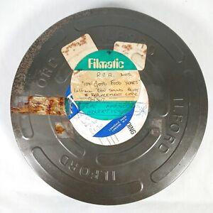 "Vintage Film Reel Tin Can - 10"" Round - 40mm Deep - Ilford - Display/Prop"