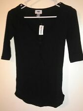 (#103) Old Navy black top. XS. Nwt