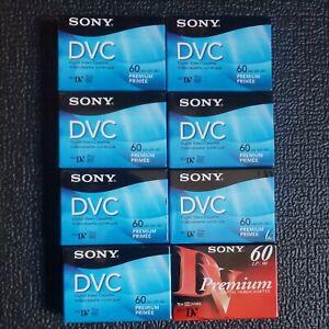 Sony DVC Digital Video Cassette Mini DV Premium 60m (Lot Of 8)
