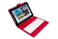 Silverht funda Universal (9-10.1-) teclado cable microUSB Rojo/blanc 1610-n