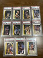 1986 Basketball Fleer Sticker Set All PSA 8 Michael Jordan Rookie RC