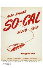 new hot rod Poster 11x17 So Cal Speed Shop Vtg Catalog Art