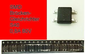 SMD Brückengleichrichter Gleichrichter S40 0,8A 80V Mini-DIL F11/4