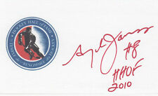 Leo Boivin NHL Hall of Fame played from 1951–1970 HOF SIGNED 3x5 CARD AUTOGRAPH