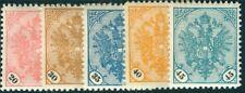 Bosnien Herzegowina 1901 Nr. 24-28 Freimarken Doppeladler ungebraucht