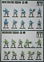 Warhammer 40k Space Marine Primaris Infiltrators / Incursors Combat Squad (5)