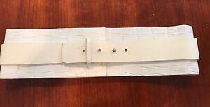 NEW***J.MENDEL***White Crocodile Belt***$795