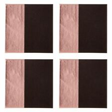 Geome Dipped Coasters Sleek Black and Textured Rose Gold