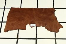 """Gorgeous """"Trail Marker"""" Brown Scrap Leather Hide Approx. 3.5 sqft. RK13W10-7"""