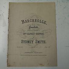 salon piano BARCAROLLE sydney smith op.88 , 13pp