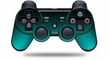 Skin for PS3 Controller Smooth Fades Neon Teal Black CONTROLLER NOT INCLUDED