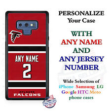 Atlanta Falcons A18 Red Personalized Football Phone Case Cover fits Samsung etc.