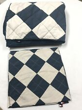 TOMMY HILFIGER Twin 3 Piece Comforter Quilted Patch + 2 Pillow Cover Cases Shams
